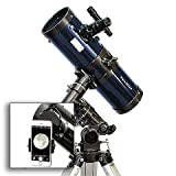 AstroVenture 4.5'' Reflector Telescope With Universal Smartphone Camera Adapter (Blue)