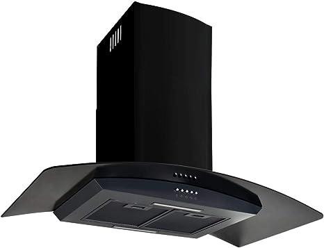 tuduo campana en la pared de acero inoxidable 756 M3/h 90 cm negra Campanas extractoras Campanas cocina: Amazon.es: Grandes electrodomésticos