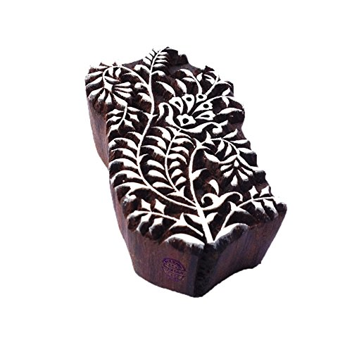 Exquisite Urban Paisley Design Wood Stamp for Printing - DIY Henna Fabric Textile Paper Clay Pottery Block Printing Stamp