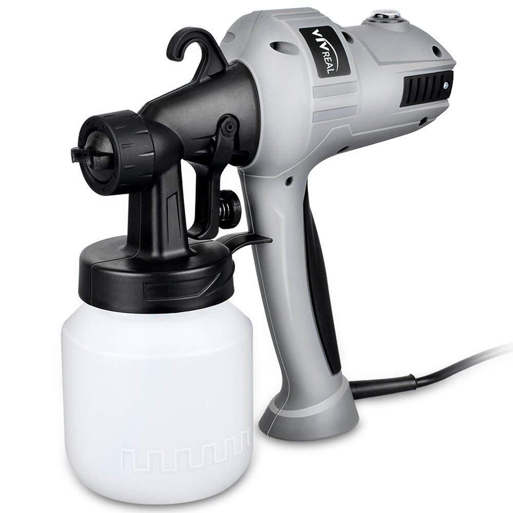 Paint Sprayer Spray Gun - Electric Paint Sprayer Gun Spray Paint Gun with Three Spray Patterns, Adjustable Valve Knob, Flow Control and 800ml Container for Home Indoor Outdoor Painting