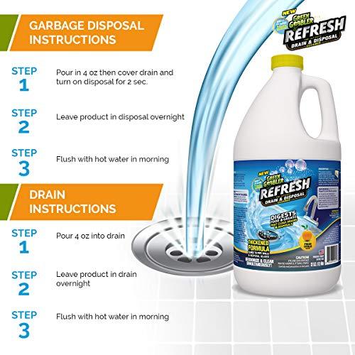 Green Gobbler ''Refresh Garbage Disposal & Drain Cleaner & Deodorizer (1 Gallon) by Green Gobbler (Image #6)