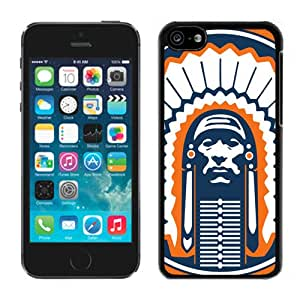 Fashionable And Unique Designed With Ncaa Big Ten Conference Football Illinois Fighting Illini 8 Protective Cell Phone Hardshell Cover Case For iPhone 5C Phone Case White