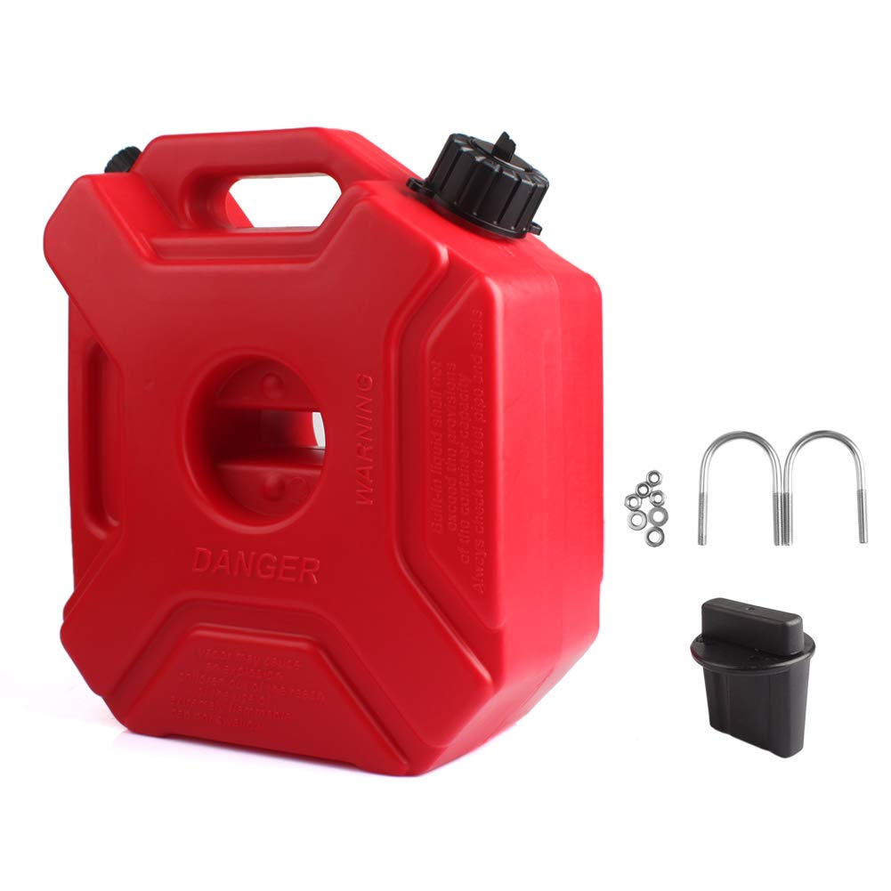 YOUNGFLY Fuel Cans Gasoline Container 0.8 Gallon Universal Fuel Oil Petrol Diesel Storage Gas Tank Emergency Backup for Jeep JK Wrangler SUV ATV Car UTV ect Most Cars 3L by YOUNGFLY