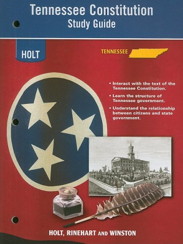 Holt United States History Tennessee: Constitution Study Guide Grades 6-9 Beginnings to 1877 ebook