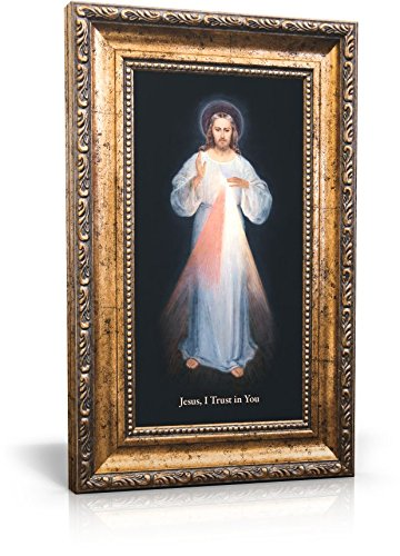 St Joseph Communications Divine Mercy (Vilnius) - Framed Canvas 6 x 11 (Including frame: 9.5 x 14.5) ()