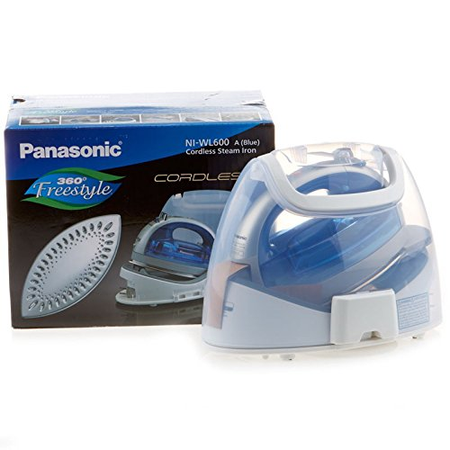 Panasonic 360º Freestyle Cordless Iron with Carrying Case NI-WL600 BLUE COLOR (Panasonic Steam Iron Cordless)