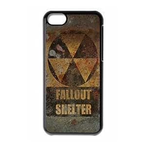 Fallout U8Z4Di iPod Touch Funda Caso 6 Negro P6F1CC caja del teléfono funda Claro genéricos