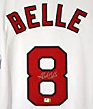 Albert Belle Cleveland Indians Signed Autographed White #8 Jersey Witnessed COA