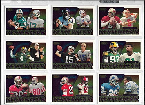 1995 Topps Football Complete Yesteryear Insert Set Of 15 Cards Favre-Rice+++ (The Best Of Yesteryear)