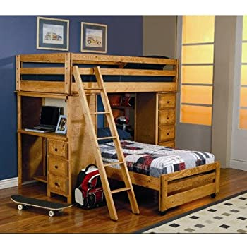 Amazon Com Twin Bunk Bed Ladder Bedroom Furniture Kids Children