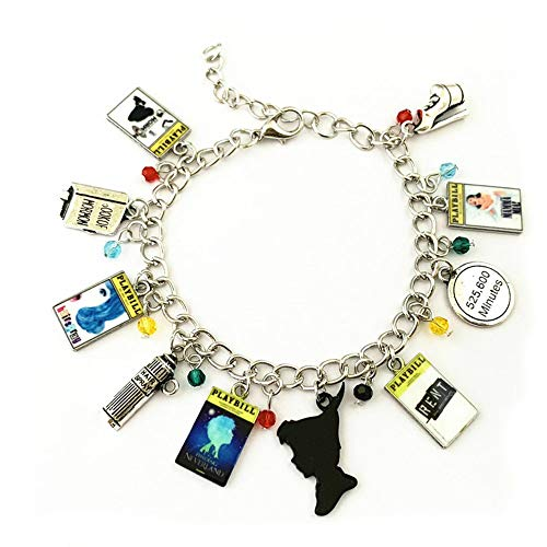 Athena Brand Broadway Musicals Charm Bracelet Quality Cosplay Jewelry Broadway Musical Series with Gift Box -