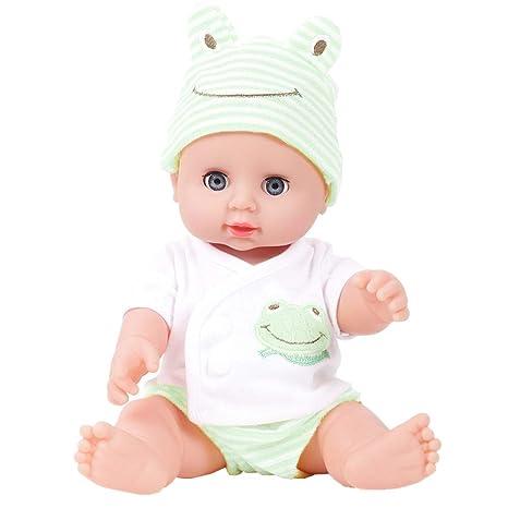 dc9e4b4740309 feiXIANG Bambolotti Bambina Bambola Ragazza Bambolotti Che Sembrano Veri  Neonato Reborn Interattivi Cicciobello Bambolina Morbido Giocattolo