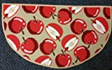 The Pecan Man APPLES, slice TEXTILE KITCHEN RUG (non skid back) ,1Pcs 18x31""