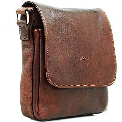 Katana - Man - brown leather shoulder bag: Amazon.co.uk: Shoes & Bags