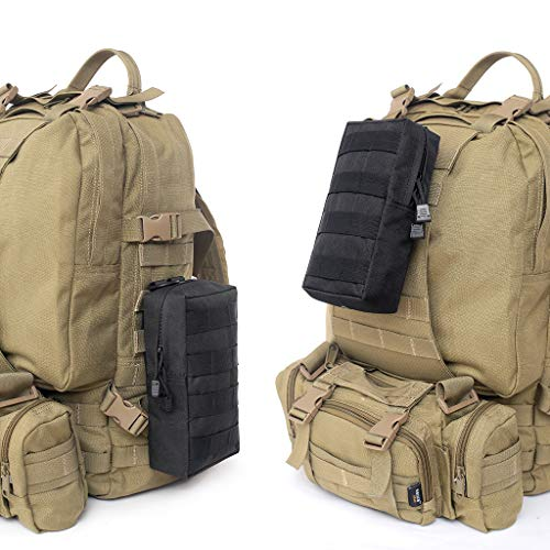 2x Pouch Belt Pocket Hiking Camp Waist Black Bags Military Molle Phone ApAfB4Wa
