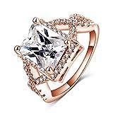 New Exquisite Fashion Jewelry Hot Sale Rose Gold Cross Exquisite Diamond Zircon Ring