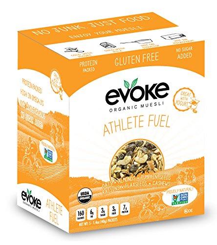 Evoke Athlete Fuel Single Serve Organic Gluten Free Muesli  5 Count