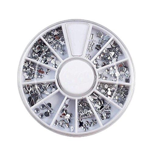 3D Design Nail Art Different DIY Nail Art Diamond Stud Wheel Manicure, A