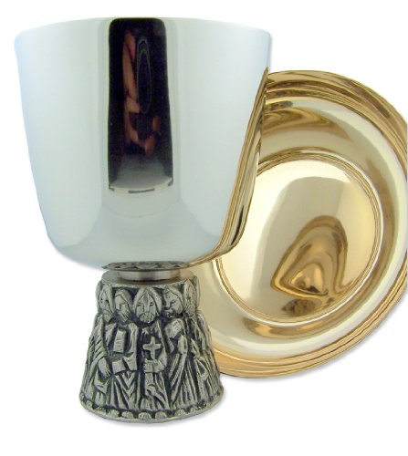 Autom Last Supper Chalice and Bowl Paten Set