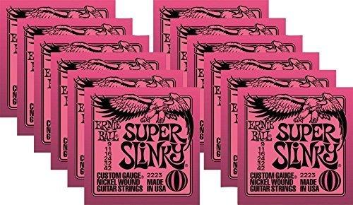 - Ernie Ball 2223 Nickel Super Slinky Guitar Strings - Buy 10, Get 2 Free
