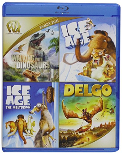 Walking with Dinosaurs / Ice Age / Ice Age: The Meltdown / Delgo Quad Feature Blu-ray