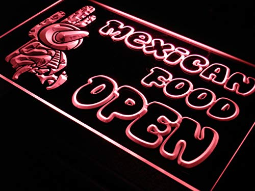 ADVPRO i101-r Open Mexican Food Cactu Bar Neon Light Sign