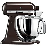 KitchenAid Artisan 5KSM175PSEES 5 Qt.Stand Mixer Espresso with TWO Bowls & Flex Edge Beater 220 VOLTS NOT FOR USA