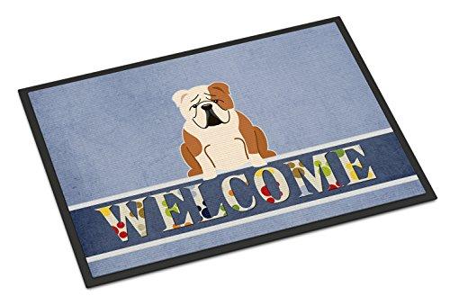 Caroline's Treasures English Bulldog Fawn White Welcome Doormat 18 x 27 Multicolor