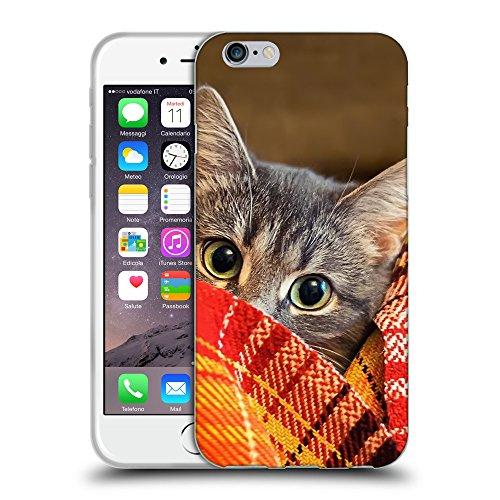 """Just Phone Cases Coque de Protection TPU Silicone Case pour // V00004195 Chaton dans la couverture // Apple iPhone 6 4.7"""""""