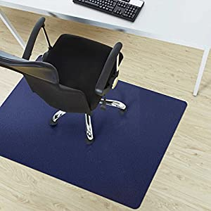 Etm Office Chair Mat Dark Blue Multipurpose Floor Protection 75x120cm