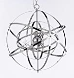 Foucault's Orb Chandelier Chandeliers Lighting Chrome Color Review