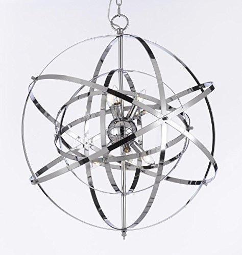 Versailles 24 Light Chandelier - Spherical Orb Chandelier Chandeliers Lighting Chrome Color