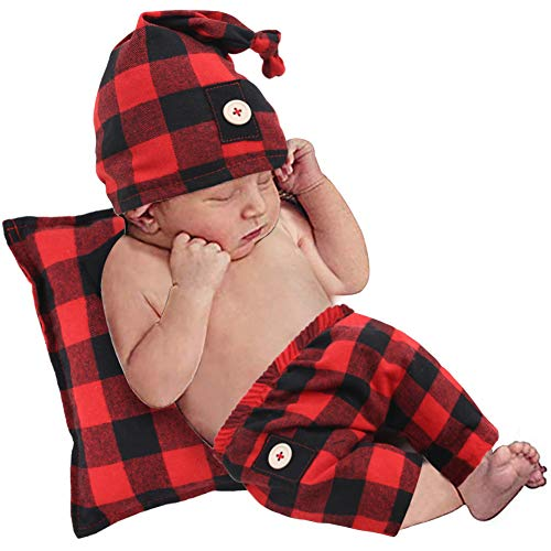 Newborn Boys Girls Photography Outfits Buffalo Cotton Baby Clothes for Photography,Newborn Party Costume, Baby Photo Prop