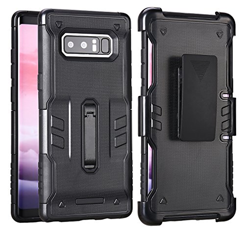 Galaxy Note 8 Case, Samsung Note 8 Wallet Case, Karidge Glitter Shiny Premium PU Leather Wallet Case Magnetic Closure Credit Card Slot Cash Holder Protective Case (KD032-03-Black) by Karidge