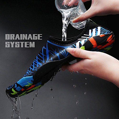Mens Swim lightweight 14 Water Water Exercise Aqua KOBWA Shoes Drainage Beach Quick for Shoes Womens Surf Fashion Dry Ultra Barefoot Socks Beach Shoes Swim with Yoga Unisex Swim Holes qHExOXw