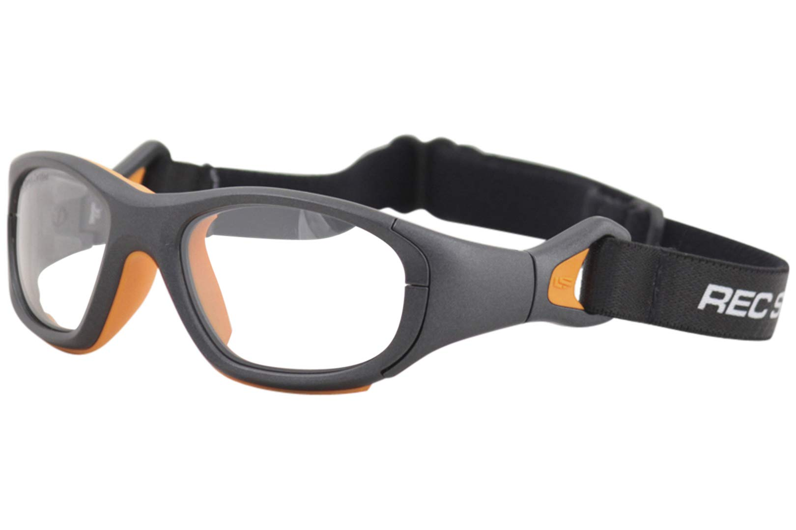Liberty Sport Youth Rec-Specs RS-41 325 Gunmetal/Orange Rectangle Sunglasses by Liberty Sport