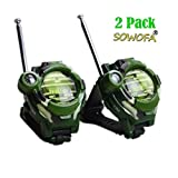 SOWOFA Kids Walkie Talkies Mutifunctional Wrist Walky-Talky Watch Long Range Radios with 3+ Mile Range Radio Transceiver Outdoor Interphone Kids Gift Toys