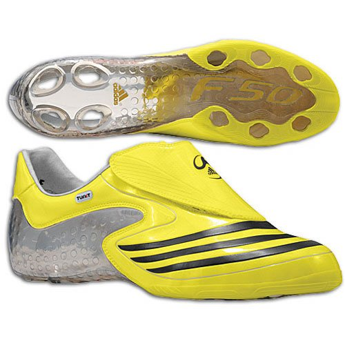 adidas Mens F50.8 TUNiT Soccer Shoe Lemon/Black/Silver PJIttxl