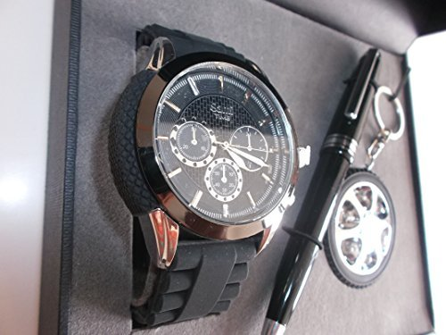 Sami RSM-43569-3 Motor Time Series Conjunto de Reloj de caballero esfera con