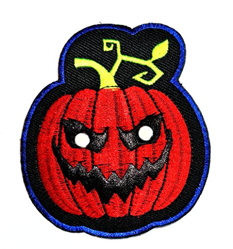 HHO Red Pumpkin DIY Applique Embroidered Sew Iron