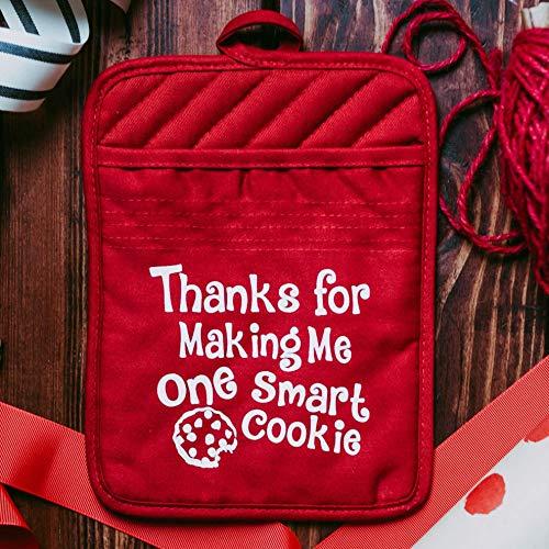 Teacher Christmas Gift Unique Appreciation Thank You Present Potholder - Set of 2