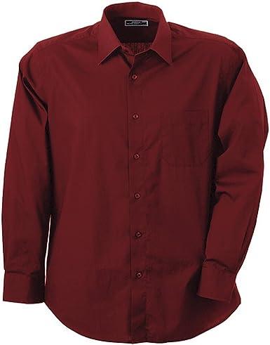 James & Nicholson - Camisa y blusa para hombre burdeos M: Amazon.es: Ropa y accesorios