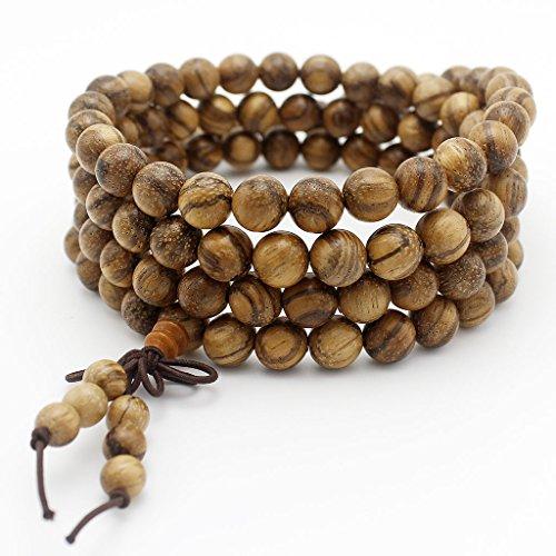 JIIUZUO 8mm 108 wood necklace