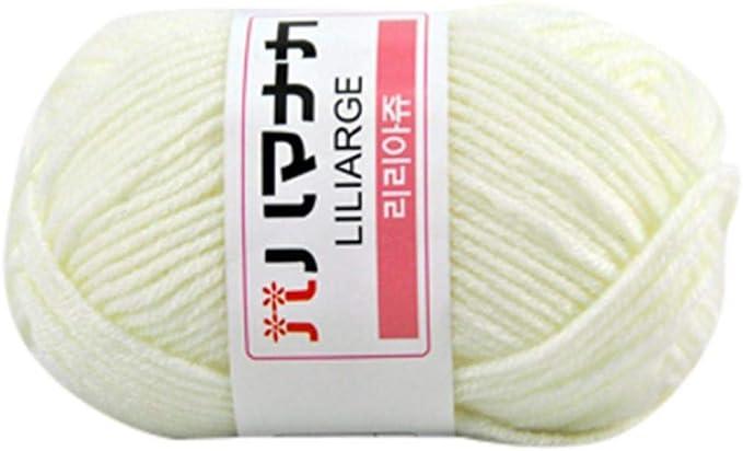 Ovillo de lana para tejer de algodón suave, creativo, 1 pieza, 25 ...