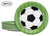 2018 World Paper Plates Party Supplies- Soccer Game Birthday Dinnerware Decorations