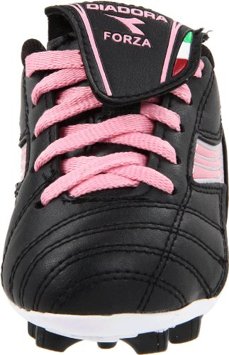 Diadora Forza MD Soccer Cleat (Toddler/Little Kid/Big Kid),Black/Pink,9.5 M US Toddler