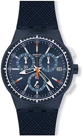 Swatch Men s Gara In Blu SUSN410 Blue Rubber Swiss Quartz Watch