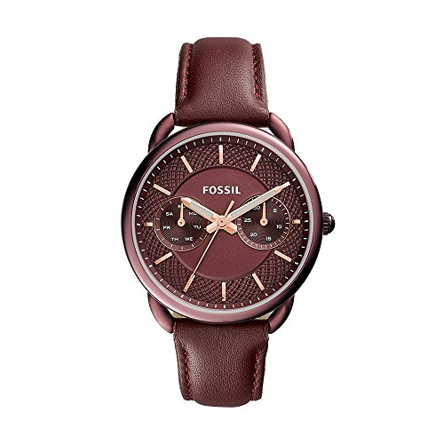 Fossil Women's ES4121 Tailor Multifunction Wine Leather (Fossil Multifunction Watch)
