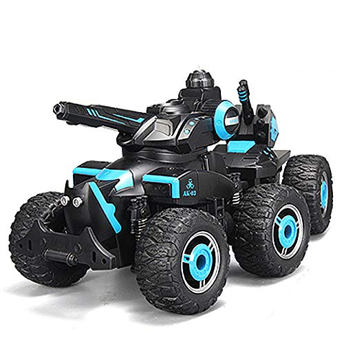 (MCJL RC Tank Toy car, Remote Control six-Wheeled Chariot Charging Toy car Four-Wheel Drive Channel Remote Control Tank boy Child Gift, Water Spray)