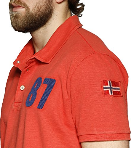 Napapijri Herren Poloshirt ESAU Rot Gr. M